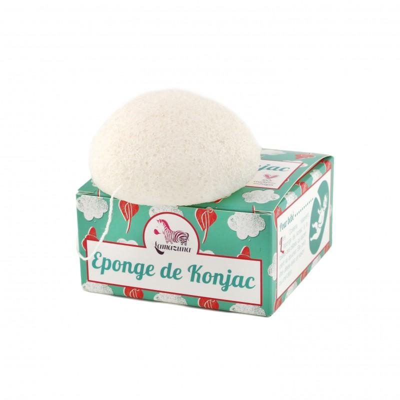 L'éponge Konjac Lamazuna naturelle et végane - Marguette.com