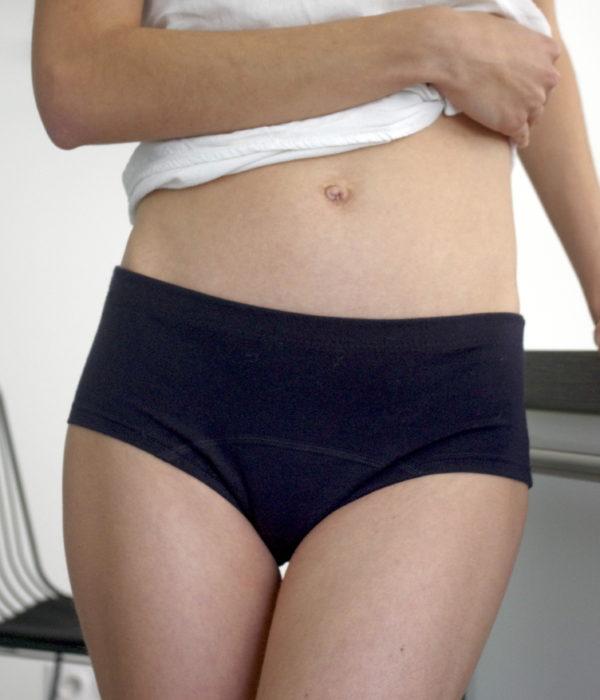 shorty menstruel en laine mérinos fabriqué en france
